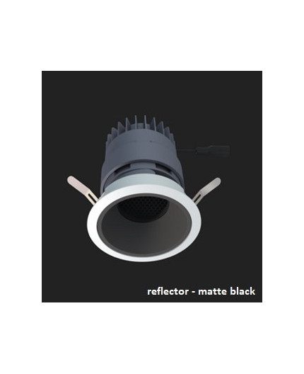 LED downlight, GECO MINI 90 10W / 800 lm, IP20, matte black reflector