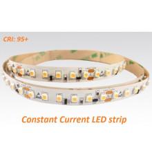 24VDC Constant Current  LED strip SMD3528, CRI≥95, 120LEDs/m, 14.4W/m, 2700K, IP20, 5m  (72W, 600LEDs)