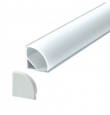 A3 silver 1m / 1000mm corner LED aluminium extrusion with diffuser