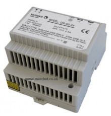 60W 24VDC DR60/24 Switching Power Supply for DIN Rail Mounting, Vadsbo