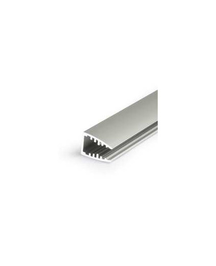 1m / 1000mm G1 glass LED profile, anodized, for 6mm panel glass