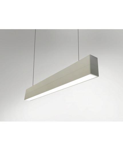 1m / 1000mm LED profile (anodized, silver), set for pendant lamp