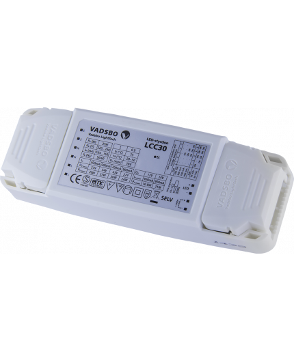 LCC30 driver/dimmer for constant current and voltage LED lights up to 30W, Vadsbo