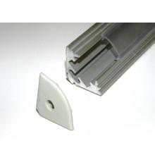 P3 LED profile 1m / 1000m corner 45 extrusion, raw aluminium, with diffuser