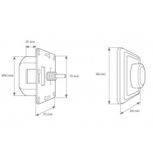 LED dimmer VD200, 1-200W. With staircase function. Leading/trailing edge, Vadsbo