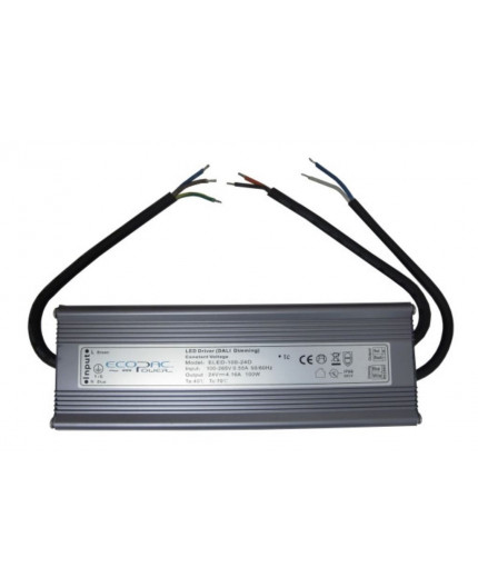 24Vdc 100W DALI dimmable LED driver, ELED-100-24D