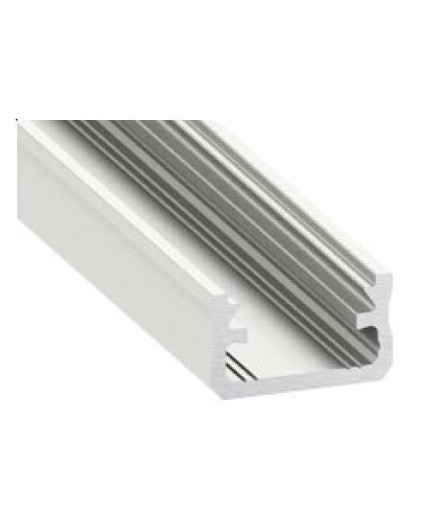 2m / 2000mm LED aluminium profile K2, anodized, silver, set with diffuser