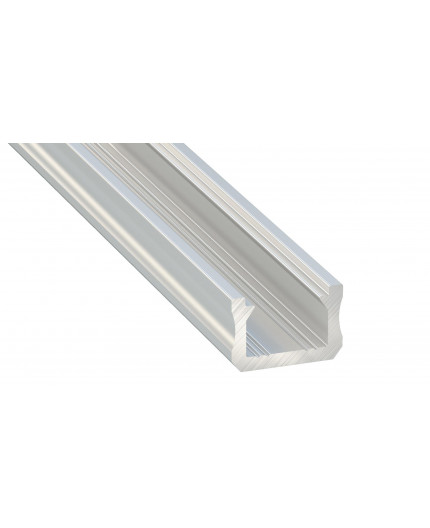 K0, 1m / 1000mm, mini LED plain aluminium extrusions 12mm x 8mm with diffuser and end caps (option)