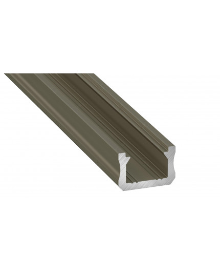 K0, 1m / 1000mm, mini LED aluminium extrusions (anodized, inox) 12mm x 8mm with diffuser and end caps (option)