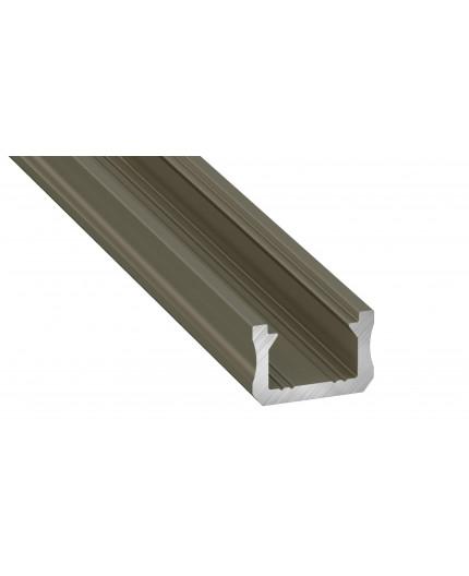 K0 mini LED aluminium profile 2m, anodized, inox with diffuser
