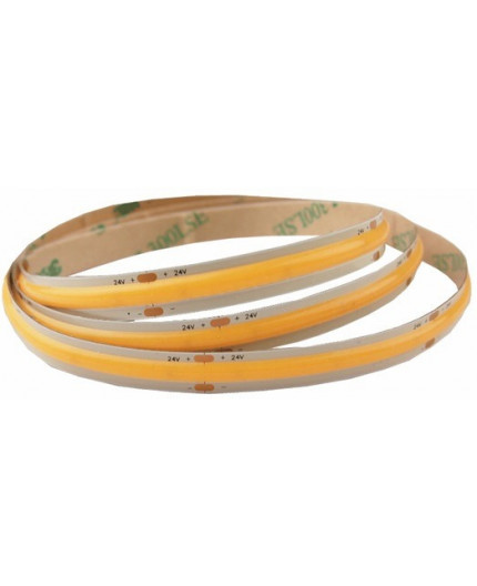 24VDC COB LED tape, warm white 2700K, 14W/m, IP20, 5m (70W)