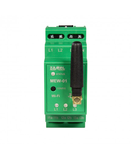MEW-01 Wi-fi Electric energy meter, for three-phase or single-phase power supply, Supla