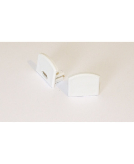PH2 white extra end cap for LED profile