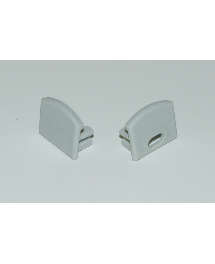 Extra/additional end cap for profile PH2 silver