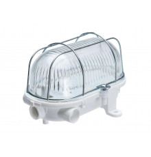 5W 4000K 580lm OVAL-7040T LED Light Lamp IP54 steel cage, glass cover