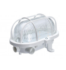 5W 4000K 580lm OVAL-7040T/P LED Light Lamp IP54 plastic cage, glass cover