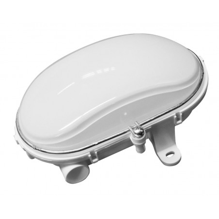 LED ES E27  Indoor Outdoor Weatherproof Oval Bulkhead With Metal Cage