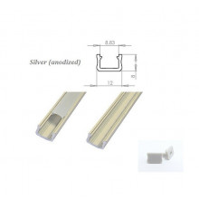 MINI aluminium extrusions  for LED lighting - silver anodized