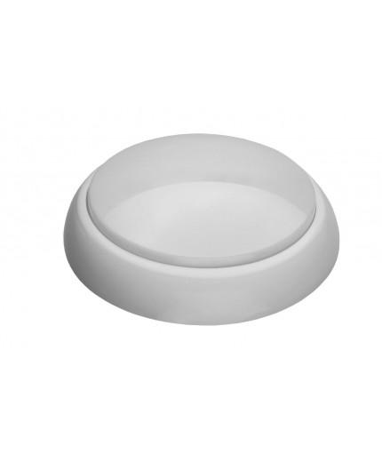 12W 4000K 1200lm ROUND XL Ceiling / Wall  LED Bulkhead Light Lamp IP44 IK10 HF motion sensor