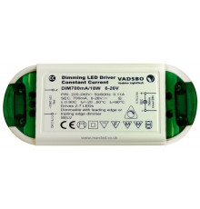 Dimmable LED Driver, Load 5–18W, Constant Current 700mA, Vadsbo