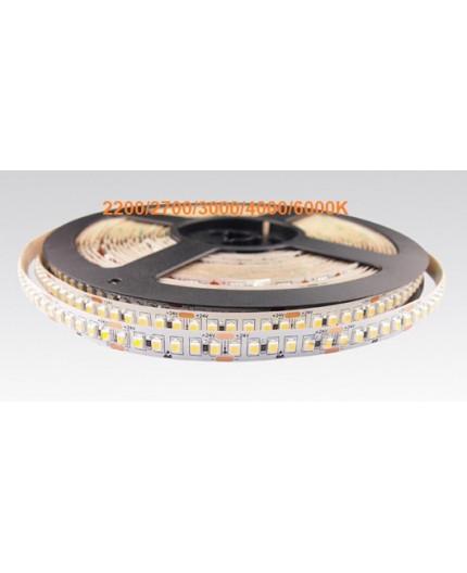 24VDC LED tape, warm white 3000K, 14.4W/m, 180LED/m, 5m (72W, 900 LED), IP20, SMD3528