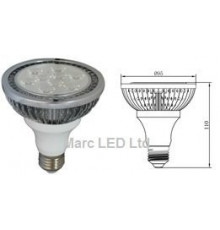 12W PAR30 E27 200-240V LED Spot Lamp Dimmable Warm White 8Degree