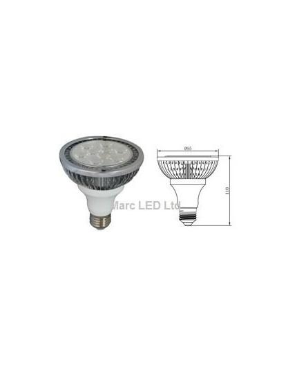 12W PAR30 E27 200-240V LED Spot Lamp Dimmable Warm White 8 Degree