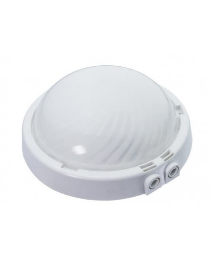 16W 4000K 1600lm DUE Ceiling / Wall Bulkhead LED Light Lamp IP44, glass cover, 2 x cable glands