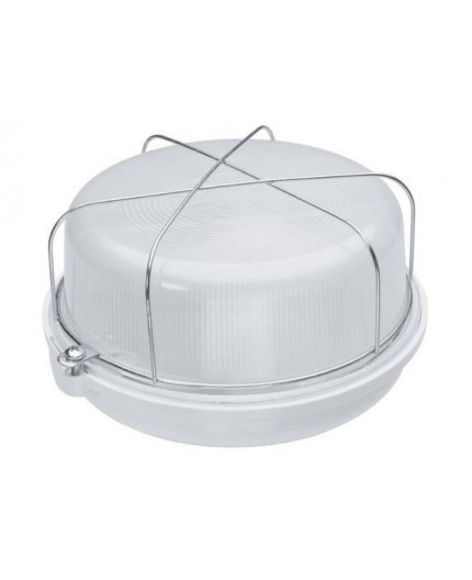 9W 4000K 1250lm OLIVIA Bulkhead Ceiling / Wall LED Light Lamp IP54, white bakelite, glass cover