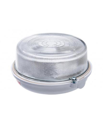 OLIVIA Ceiling / Wall Bulkhead Light Lamp, ES / E27, max.100W, IP54, white bakelite structure, glass cover