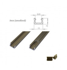 MINI aluminium extrusions  for LED lighting - inox anodized