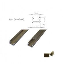 MINI aluminium extrusions  for LED lighting - inox anodized
