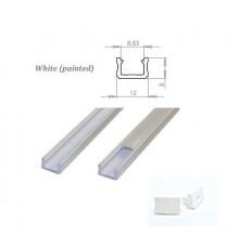 MINI aluminium extrusions  for LED lighting - white painted