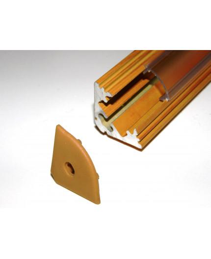 P3 LED profile 2m / 2000mm corner 45 aluminium extrusion, wood pine effect, plus diffuser