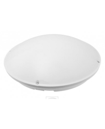 DECO Ceiling / Wall Bulkhead Light Lamp, 2X ES / E27, max. 2x 60W, IP44, IK10, polycarbonate cover