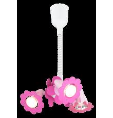Handmade Pendant Light, Pink, Flowers, Children's Lighting