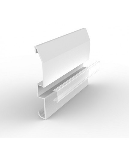 Sample of ESB1 paintable LED aluminium white skirting coard with high quality diffuser