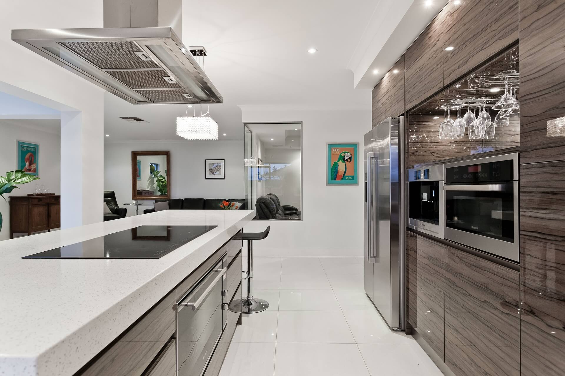 Kitchen with LEDs