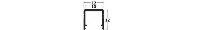 LED strip profile T2, recessed