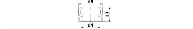 PH2 LED aluminium channel profile