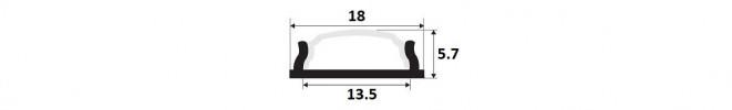 Flexible, bendable LED Profile O2