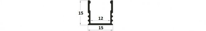 EH2 LED Profile - aluminium channel for strip lighting - Marc LED Ltd